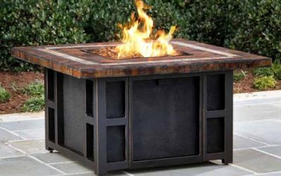 Springfield Gas Fire Table with Slate